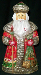 INCREDIBLE OLD WORLD HAND PAINTED RUSSIAN SANTA CLAUS #8740