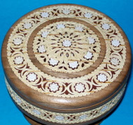 White Flowers #0113 - Intricately Handcrafted Russian Nutwood & Birch Box