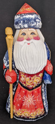 GORGEOUS HAND PAINTED RED & GOLD RUSSIAN GRANDFATHER FROST / SANTA #4813