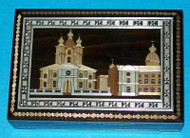 WONDERFUL RUSSIAN HANDCRAFTED INLAID STRAW BOX - ST. PETERSBURG #0912