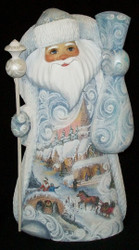 WOW! UNBELIEVABLE SCENIC HAND PAINTED SANTA #7996 w/ VICTORIAN CHRISTMAS SCENES