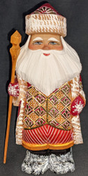 GOLDEN JACKET / VEST – HAND PAINTED RUSSIAN GOLDEN UZOR SANTA CLAUS #0235