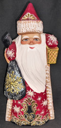Grandfather Frost w/ Lantern #0633 - Hand Carved Russian Linden Wood Uzor Santa
