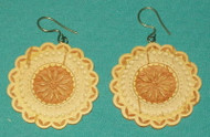 Floral Design - Intricately Handcrafted Russian Birch Earrings #9737