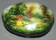 MOTHER OF PEARL FEDOSKINO RUSSIAN LACQUER BOX - SUMMER CABIN #4461