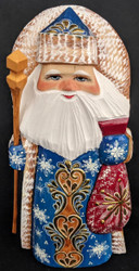 EXQUISITE GOLDEN UZOR HAND PAINTED RUSSIAN SANTA CLAUS #5999 GOLDEN SNOWFLAKE