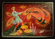RUSSIAN HAND PAINTED FAIRY TALE LACQUER BOX - THE FIREBIRD #5000