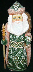 HAND PAINTED GORGEOUS RUSSIAN SANTA #5366 HAND CARVED & PAINTED WOODEN STATUE