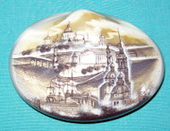 GORGEOUS BLACK & WHITE RUSSIAN MOTHER OF PEARL BOX ST. PETERSBURG