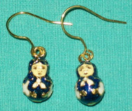 Fun Matryoshka Nesting Doll Shaped Earrings #8506