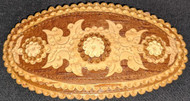 BIRCH BARK HAND CRAFTED RUSSIAN FOLK ART BARRETTE #5874