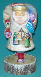 UNBELIEVABLE RUSSIAN SANTA CLAUS w/ MAIDENS IN TRADITIONAL DRESS & TROIKA SCENE