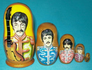 BEATLES SGT PEPPERS 5PC RUSSIAN MATRYOSHKA NESTING SET #2468