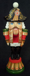 REGAL PROUD HAND CARVED & HAND PAINTED RUSSIAN NUTCRACKER STATUETTE #2741
