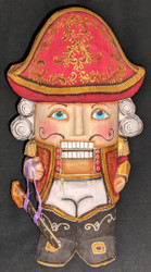 NUTCRACKER SOLDIER – HAND CARVED & PAINTED WOODEN RUSSIAN STATUE #2677