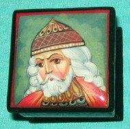RUSSIAN SOLDIER HAND PAINTED LITTLE RING BOX #0105
