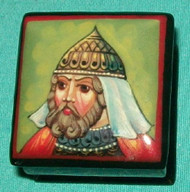 HAND PAINTED RUSSIAN LACQUER BOX - MEDIEVAL SOLDER #0115