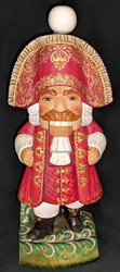 WOW! STUNNING HAND CARVED & PAINTED RUSSIAN NUTCRACKER STATUE#2610