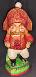 WOW! STUNNING HAND CARVED & PAINTED RUSSIAN NAPOLEONIC STYLE NUTCRACKER #2600