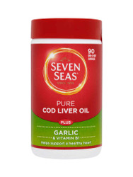 Need results, try Seven Seas Pure Cod Liver Oil Plus Garlic Capsules. Delivered fast and FREE in the UK. Amazing NEW bargains every day. Act fast, Buy Now.