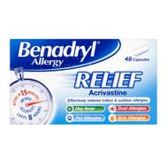 Benadryl Allergy Relief Capsules - 48