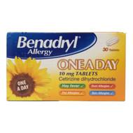 Benadryl Allergy One a Day Tablets - 30