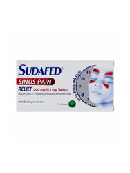 Sudafed Sinus Pain Fever Sore Throat Blocked Sinus Pain Relief Tablets - 16