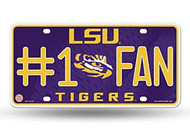 LSU #1 Fan License Plate