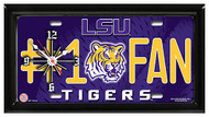LSU #1 Fan License Plate Clock