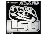 LSU Metallic 6x6 Decal