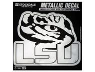 LSU Metallic 6x6 Decal