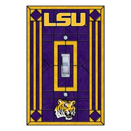 LSU Artglass Single Switch Cover