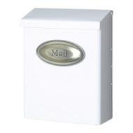Mailbox Vertical Lockable White