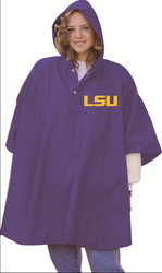 LSU Adult Heavy Weight Purple Poncho