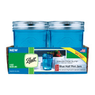 Ball Regular Mouth Blue Half Pint Jars Set of 4