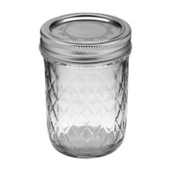 Ball Regular Mouth Quilted Crystal Jelly Jars 8oz Set of 12