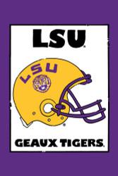 LSU Helmet Garden Flag