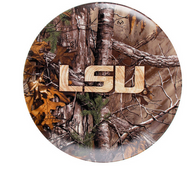 "LSU Tigers RealTree Camo 8"" Plate Set of 4"