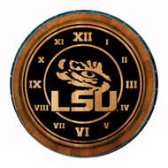 LSU Eye Wine Barrel Clock