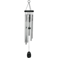 "32"" Silver/Black Wood Chimes"