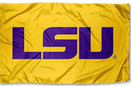 LSU 3x5 Gold/Purple Sleeved Applique Nylon Flag