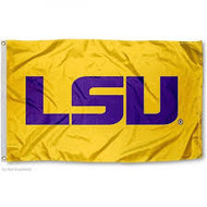 LSU 3x5 Gold/Purple Grommet Applique Nylon Flag