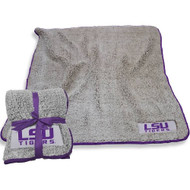 LSU Super soft Sherpa Throw Blanket