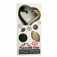 Black & Gold Flamingo Fans