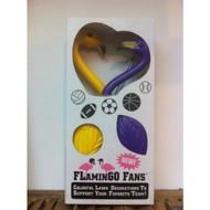 Purple & Yellow Flamingo Fans