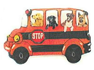 Hilarious FOUR DOG Passengers on SCHOOL BUS PIN