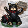 "Northwood Black Bear & Baby Cub ""Happy Campers"" Resin Figurine"