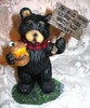 "Northwood Black Bear ""Old Bear Lives Here With His Honey"" Resin Figurine"