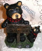 "Northwood Black Bear with Cub & Sign ""Welcome To Our Den"" Resin Figurine"