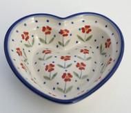 Polish Pottery Small Heart Bowl- Simple Elegance